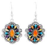 Sterling Silver Earrings Multi Gemstones E1340-C71