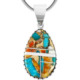 Sterling Silver Pendant Spiny Turquoise P3131-C89