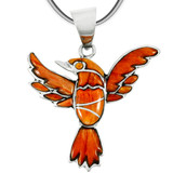 Sterling Silver Hummingbird Pendant Spiny Oyster P3219-C79