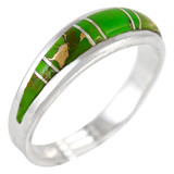 Green Turquoise Ring Sterling Silver R2264-C06