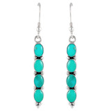 Sterling Silver Earrings Turquoise E1174-C75