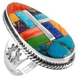 Multi Gemstone Ring Sterling Silver R2230-C51