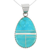 Sterling Silver Pendant Turquoise P3131-C05
