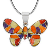 Sterling Silver Butterfly Pendant P3146-C36