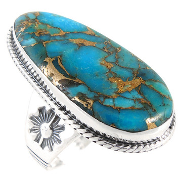 Matrix Turquoise Ring Sterling Silver R2230-C84
