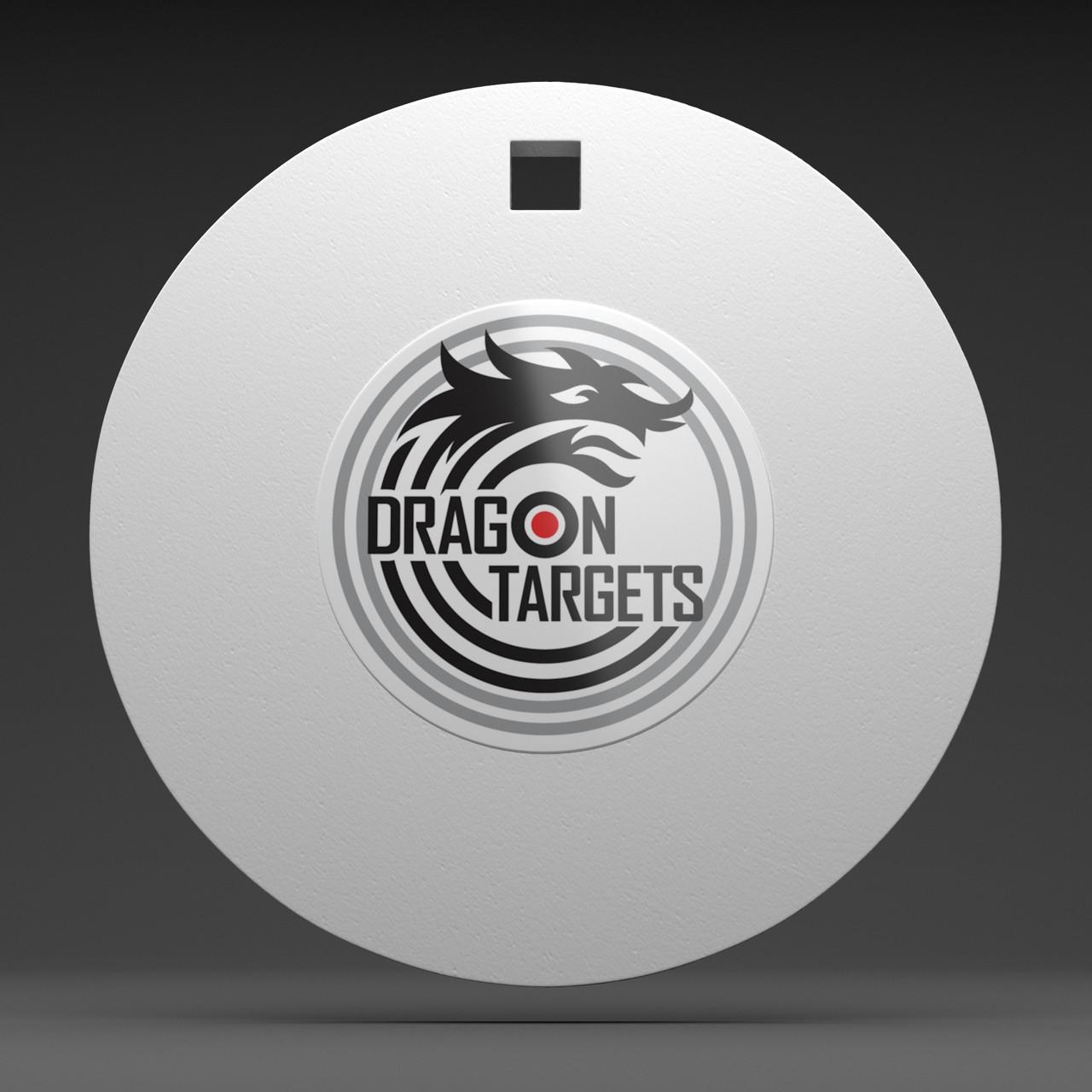 "Dragon Targets 8"" x 1/2"" Round Gong AR500 Steel Shooting Target"