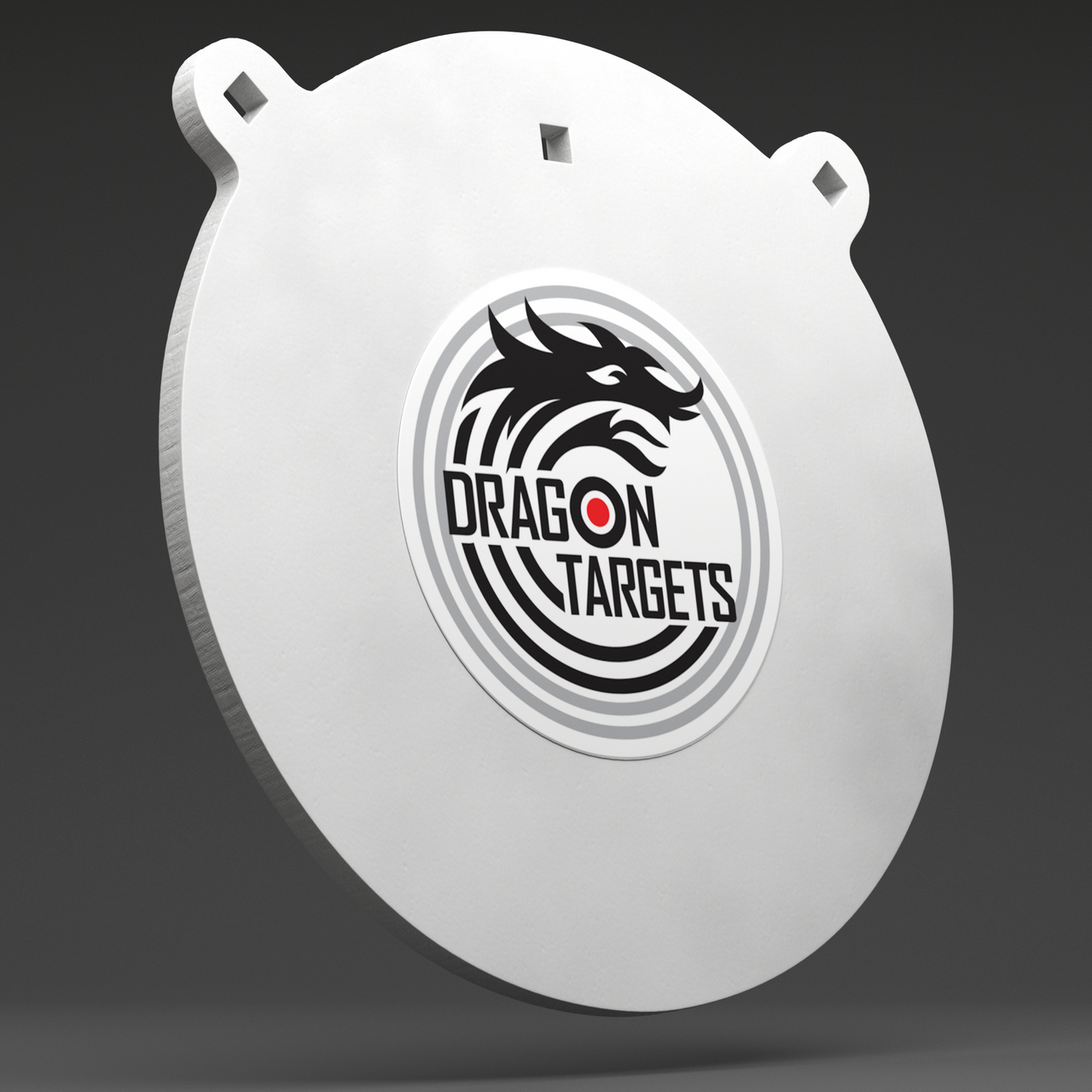 """Dragon Targets 10""""x 3/8"""" Gong  AR500 Steel Shooting Target with 3/8"""" Holes"""