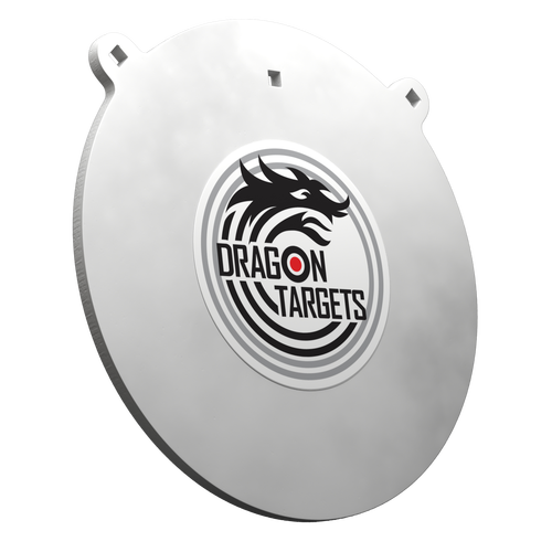"Dragon Targets 12"" x 3/8"" Gong AR500 Steel Shooting Target with 3/8"" Holes"