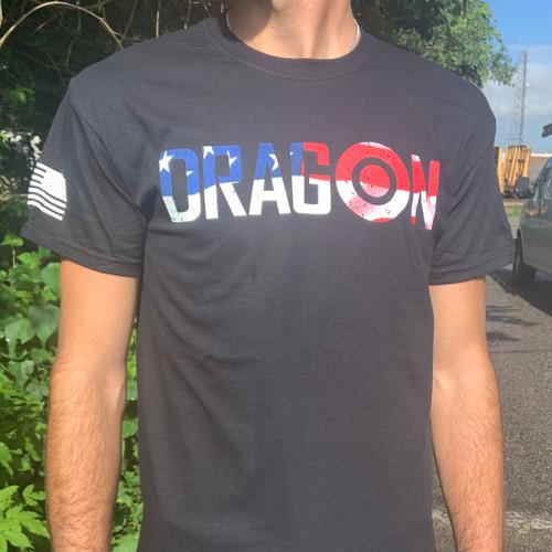 Dragon Targets American Flag T-Shirt