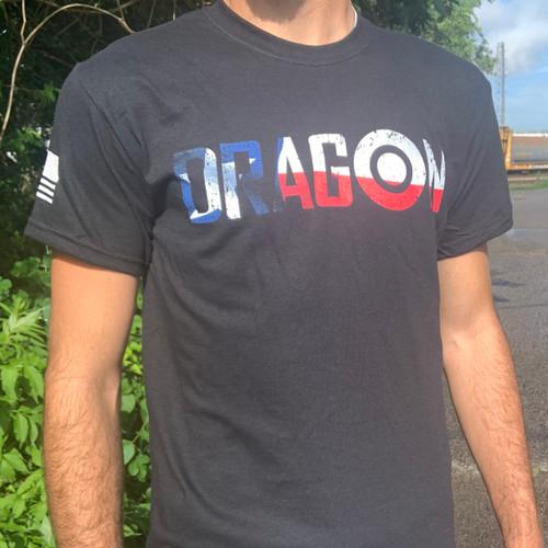 Dragon Targets Texas Flag T-Shirt