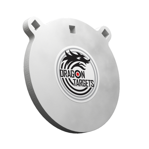 """Dragon Targets 8"""" x 1/2"""" Gong AR500 Steel Shooting Target 1/2"""" Thick"""