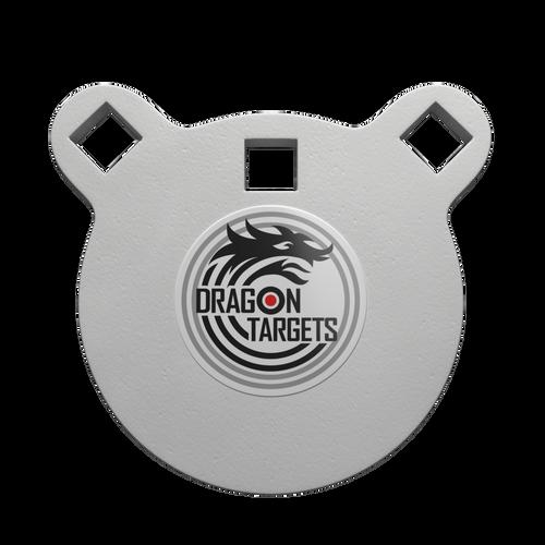 "Dragon Targets 4"" x 3/8"" Gong AR500 Steel Shooting Target"