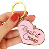 beat it creep enamel keychain