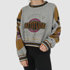 DISTRESSED VINTAGE 90S DESIGNER CROPPED SWEATSHIRT - M