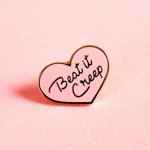 Beat It Creep Enamel Pin