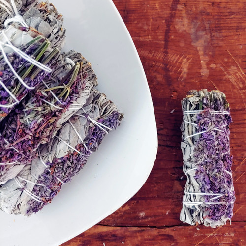 ROYAL LAVENDER & WHITE SAGE SMUDGE STICK