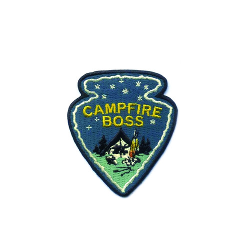 Campfire Boss Embroidered Iron On Patch