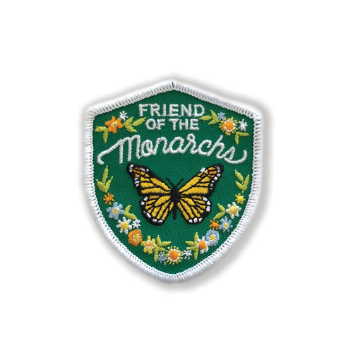 Friend of the Monarch Embroidered Iron On Patch