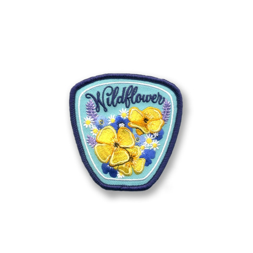 Wildflower Embroidered Iron On Patch