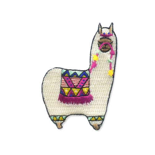 Alpaca Embroidered Iron On Patch