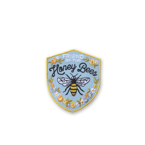Friend of the Honey Bee Embroidered Iron On Patch