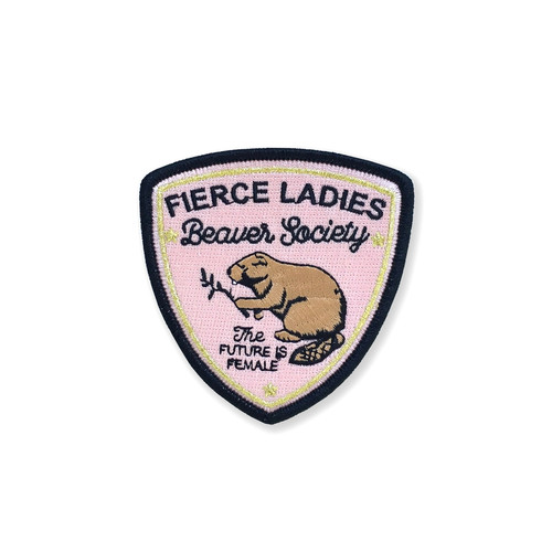 FIERCE LADIES BEAVER SOCIETY ~ IRON ON PATCH