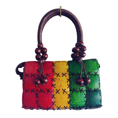 VINTAGE 90s JAMAICAN BEADED MINI HANDBAG