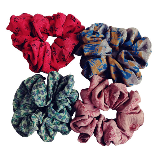 Handmade Indian Sari Scrunchie