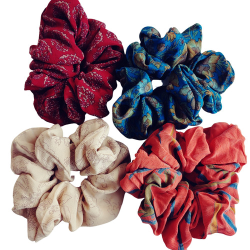 Handmade Indian Sari Scrunchies