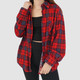 SOFT VINTAGE 90S RED PLAID FLANNEL - L