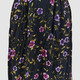 VINTAGE 90S PURPLE FLORAL SKIRT - S/M