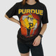 DISTRESSED VINTAGE PURDUE UNIVERSITY BASKETBALL TEE - L