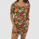 VINTAGE 90S FLORAL BODYCON DRESS  - S/M