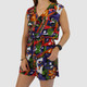 VINTAGE TOTALLY 90S RED FLORAL ROMPER - S/M