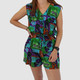 VINTAGE TOTALLY 90S GREEN FLORAL ROMPER - S/M