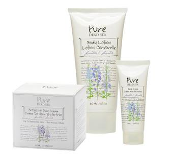 Pure Dead Sea Lavender 3 Cream Kit takes care of your skin