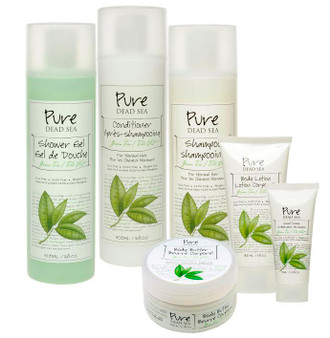 Pure Dead Sea Grean Tea Shampoo and Conditioner Kit take a great care of your hair and skin