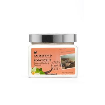 Use  Dead-Sea Sea of Spa Body Scrub Vanilla & Patchouli to give your skin the perfect gift