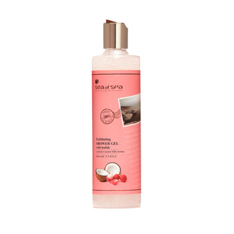Dead-Sea Sea of Spa Litchi & Coconut Shower Gel by SEA of SPA makes the skin smooth and silky. The Sea of Spa Litchi Coconut Shower Gel gently removes dead skin particles of the epidermis, renewes the skin and cleares pores from toxins.