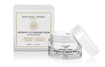 Dead-Sea Satara Natural Pearl Intensive Eye Countour Cream has a number of useful properties due to a unique combination of high concentration of and macro and micro nutrient compounds which penetrate into the skin, improve blood flow to the tissues and the supply of oxygen to the skin cells.