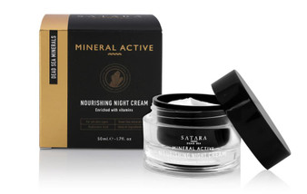 Dead-Sea Satara Mineral Active Nourishing Night Cream is all you need in order to rejuvinate your skin. Satara Mineral Active Nourishing Night Cream contains Dead-Sea minerals, Hyaluronic acid and it takes care of your skin during the night.