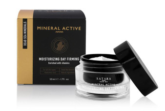 Dead-Sea Satara Mineral Active Moisturizing Day Firming cream contains Dead-Sea minerals and hyaluronic acid. Satara Moisturizing Day Firming cream forms a continuous protection that keeps the skin from losing its natural moisture.