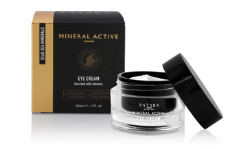 Dead-Sea Satara Mineral Active Eye Cream is made to eliminate the dark circles, puffiness and wrinkles around your eyes. Satara Mineral Active Eye Cream contains unique Dead-Sea minerals, vitamins and gently moisturizes the skin around the eyes.