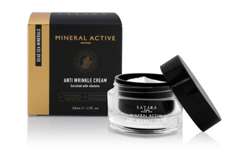 Dead-Sea Satara Mineral Active Anti Wrinkle Cream is made to eliminate and prevent the emergence of facial wrinkles. Satara Mineral Active Anti Wrinkle Cream is enriched with vitamins, unique Dead-Sea minerals and hyaluronic acid.