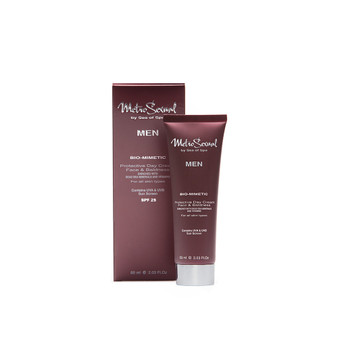 """Dead-Sea SEA of SPA Metrosexual Protective Day Cream effectively softens and smoothes your skin after moisturizing and nourishing it with Dead-Sea minerals. The SEA of SPA Metrosexual Protective Day Cream quickly absorbes and has the original smell of men's perfume """"Hermes""""."""