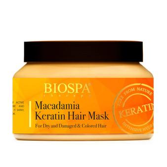 Bio Spa Macadamia Keratin Hair Mask for dry damaged colored hair