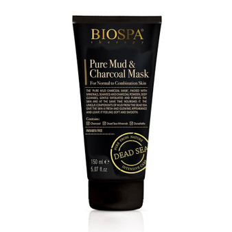 Dead Sea Pure Mud charcoal mask for normal to combination skin