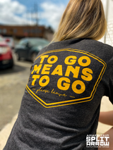 large to go means to go  back print