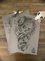 Dark mark risograph print (does not come with key, skull or train pin)