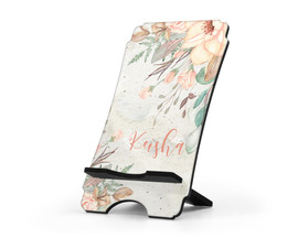 Bohemian Floral Print Personalized Cell Phone Stand